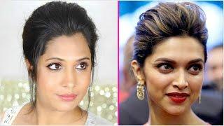 Ponytail + Messy Bun - Deepika Padukone Hairstyles | ShrutiArjunAnand