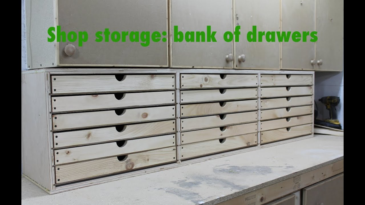 Bank Of Drawers For The Shop Youtube