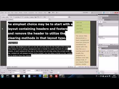 Adobe Dreamweaver CS5 - דרימוויבר - יצירת תבנית ועריכת תבניות מוכנות