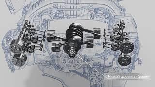 Технологии Subaru: Двигатель SUBARU BOXER - Уравновешенность.