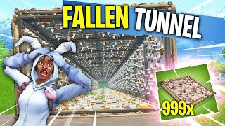 UNENDLICHER FALLEN TUNNEL *WELT REKORD* in Fortnite Battle Royale!