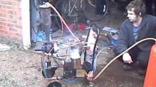 Test run of homebuilt jet engine