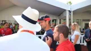 Novak Djokovic Victory Lap At Sony Ericsson Open In Miami
