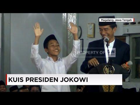 Jokowi Terbahak-bahak Dengar Santri Sebut Megawati, Ahok dan Prabowo Sebagai Menteri