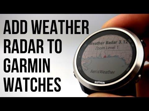 Add Weather Radar Map To Your Garmin Watch - Forerunner, Vivoactive, Fenix