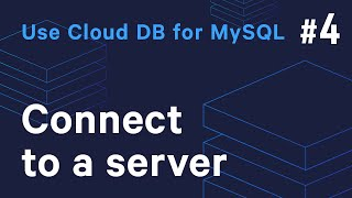 [Guide to Getting Started] Use Cloud DB for MySQL - #4 Connect to a sever