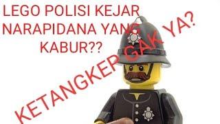 Lego polisi kejar narapidana yang kabur/melarikan diri