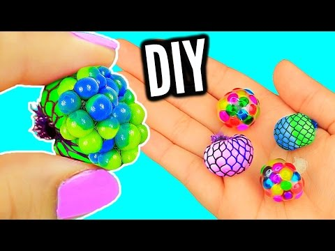 Thumbnail: DIY Mini Stress Balls! Orbeez & Mesh Slime Stress Ball Miniatures!