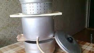 соковарка в действии-готовим 100% виноградный сок