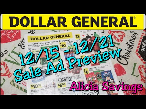 Dollar General Sale Ad Preview 12/15 - 12/21 Early Ad Preview