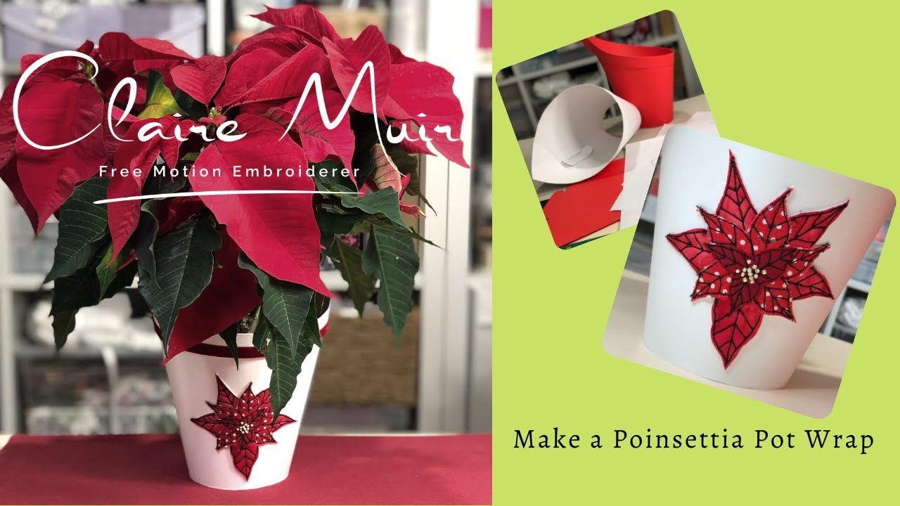 Make a Poinsettia Pot Wrap