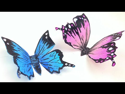 How To Make 3D paper butterfly craft ideas / butterflies for home decorations on walls / Home decor