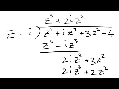 Polynomial Long Division With Complex Coefficients Examples