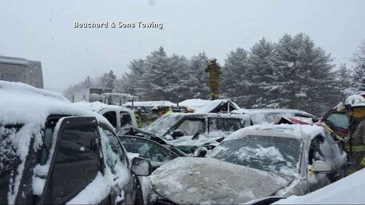 Seventy-Car Pile-Up Shuts Down Interstate 95 in Maine