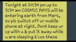 Bbc And Nasa 2017 Fake Report Cosmic Rays Today From Mars Shut Down Your Cell Phones