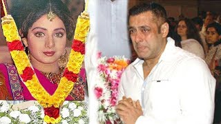 EMOTIONAL Salman Khan Breaks Down Seeing Sridevi's Condition After PASSING AWAY