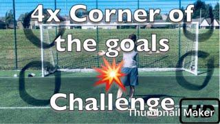 Football Challenge | 4 Corners of the goal with 5 Freekicks