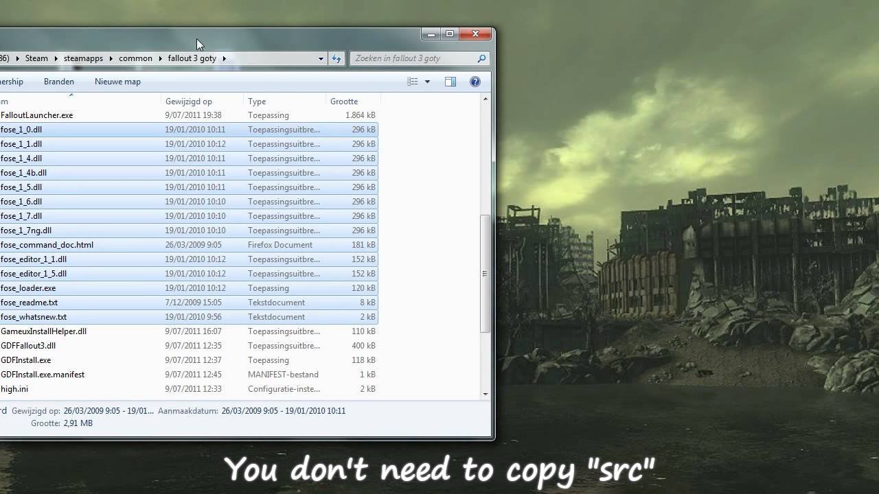 Fallout 3 [steam version] : install fallout script extender [fose] and  fallout mod manager [fomm]