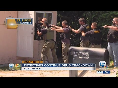 Detectives continue drug crackdown in Fort Pierce - 2nd Drug bust within days at Ft. Pierce drug hou