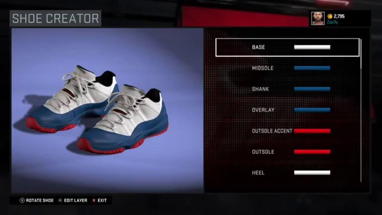 bee56858f55c NBA 2K16 Shoe Creator - Air Jordan 11 Low Custom