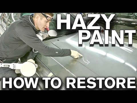 How to Restore Dull Hazy Sticky DIRTY Paint with Polish Audi 200 Turbo