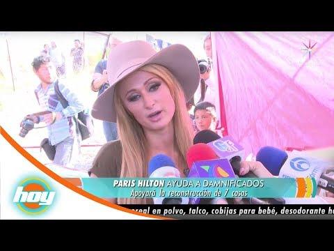 Paris Hilton visita a los damnificados en Xochimilco | Hoy