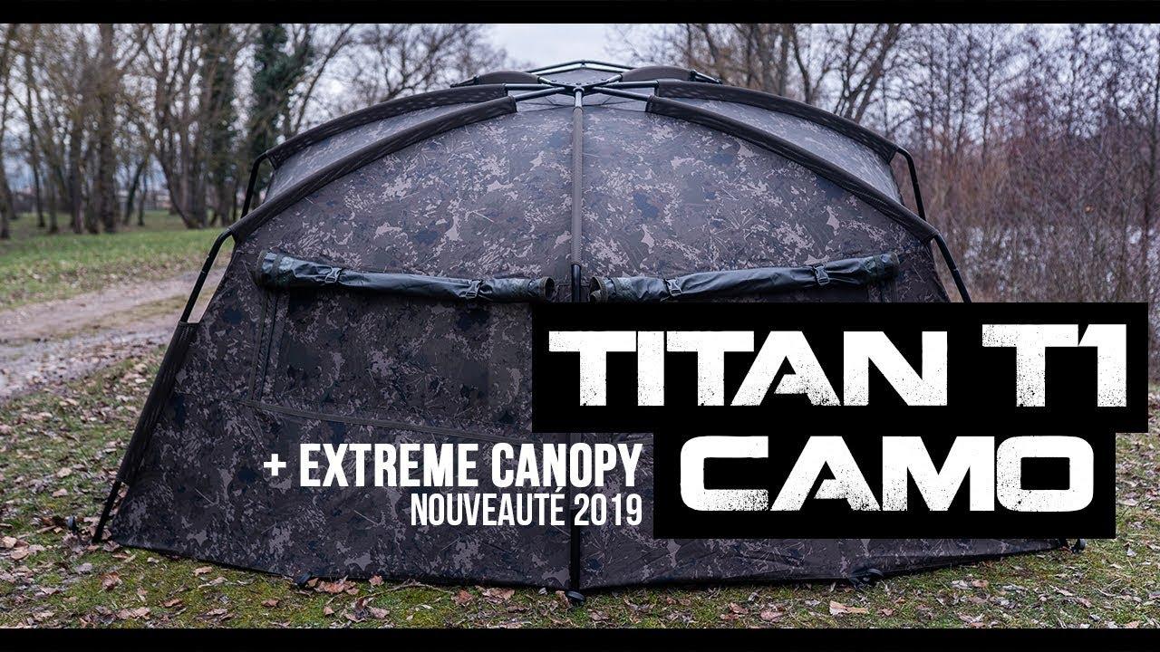 Nash Titan T1 Camo Extreme Canopy hameçons Extension Nouveau Pêche à La Carpe-T4131