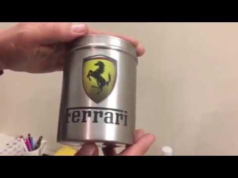 DIY Printed Ferrari coffee tin
