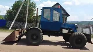 Самодельный трактор Раиля. Второе видео