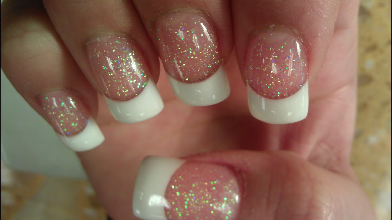 solar nails pink & white part 1 - youtube