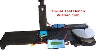 Banco De Prueba De Empuje y Helices De Un Motor  Thrust Test Bench