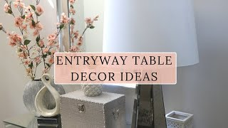 Decorating A Glam Foyer | Entryway Table Makeover