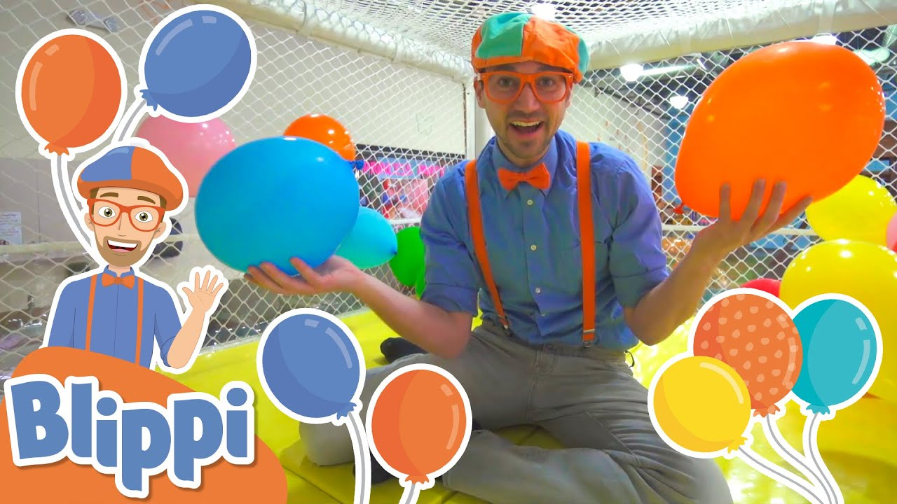 Blippi Learns Colors At Kids Time Indoor Playground in Las Vegas! | Educational Videos For Kids
