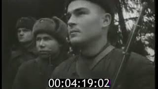 Док фильм На защиту родной Москвы вып  № 1   1941 Документальный фильм хроника