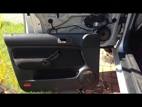 Vw Golf Mk4 How To Remove Door Card Passenger Side Youtube