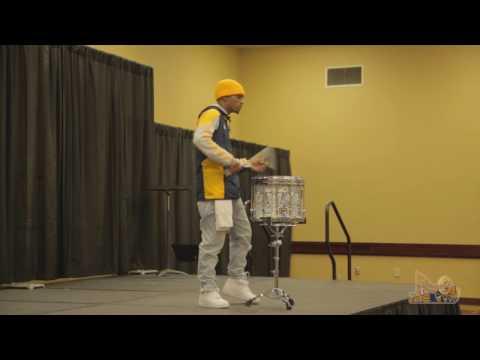 "Keir ""KJ"" Garner, PASIC 2016 Collegiate Individual Snare Competition"