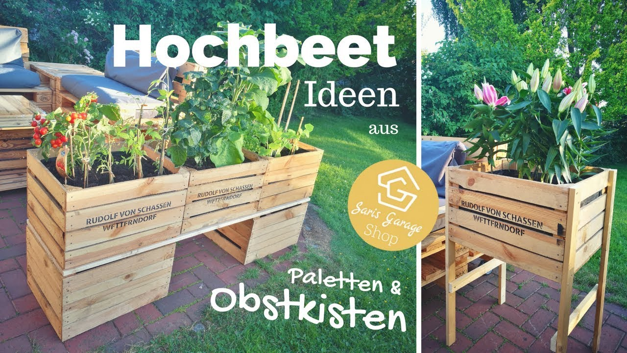 hochbeet aus obstkisten selber bauen weinkisten deko garten diy anleitung youtube. Black Bedroom Furniture Sets. Home Design Ideas