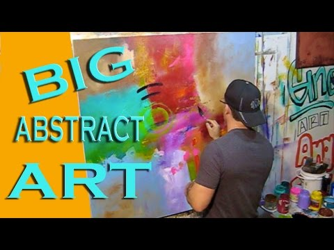 Learn how to paint abstract art. Abstrakte abstracto plastica painting technique lesson