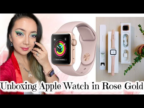 Unboxing Apple Watch in Rose Gold & Connect to iPhone + Apple USB-C to USB Unboxing