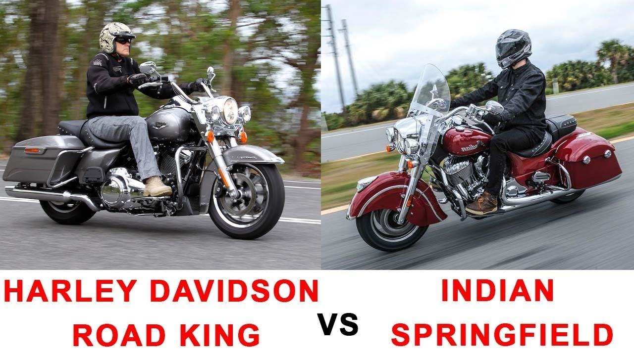 Harley Davidson Indian: 2017 Harley Davidson Road King Vs 2017 Indian Springfield