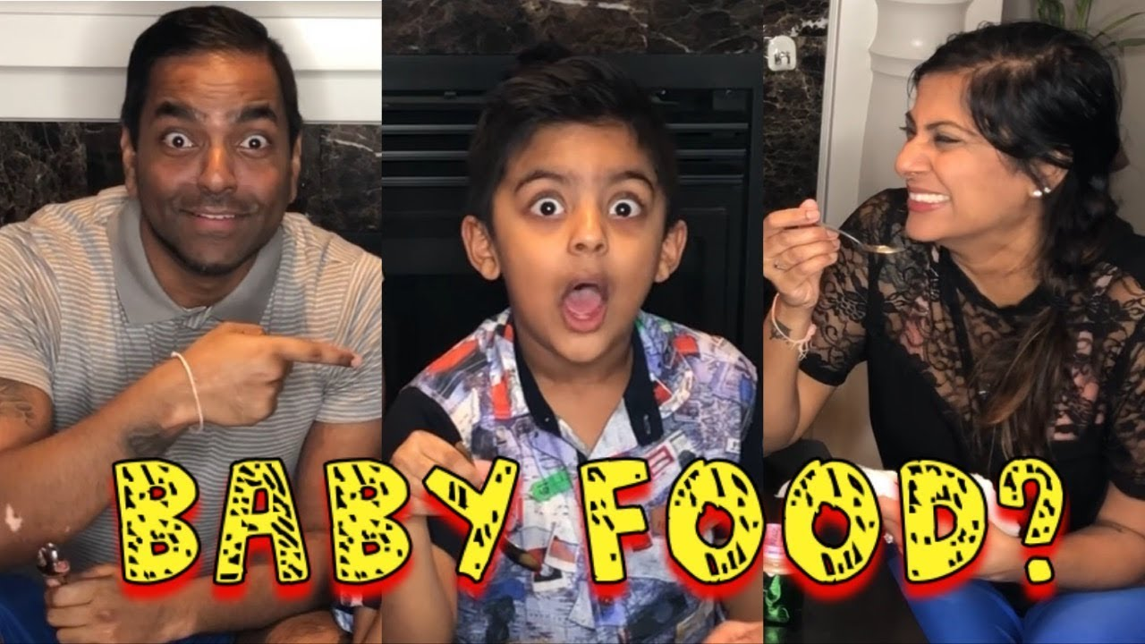 Baby Food Challenge Guess The Baby Food Game With Aaron Mimis Family
