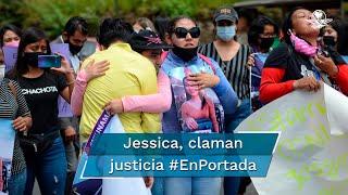 Ciudadanos desbordaron las calles de Morelia tras el hallazgo del cuerpo de Jessica, de 21 años, el viernes; solicitan a las autoridades estatales dar con el principal sospechoso del crimen
