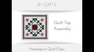 Homespun Quilt Along: Overview / Assembly
