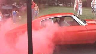Red Smoke Burnout 4th of July 2009
