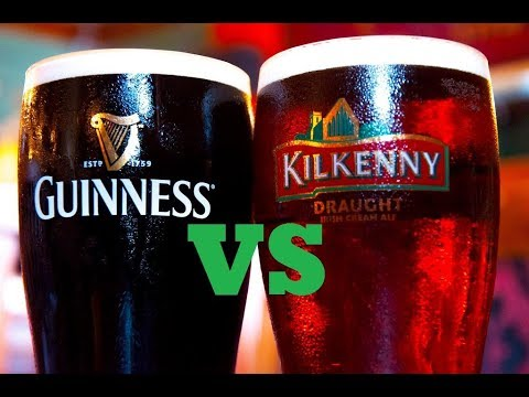 Guinness Draught vs Kilkenny Irish Cream Ale Beer Review