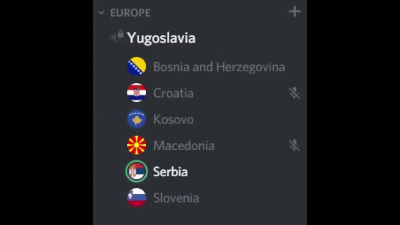 Breakdown of Yugoslavia // Discord Meme