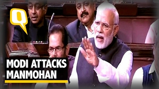 The Quint: PM Modi Mocks Manmohan in Rajya Sabha, Congress MPs Walks Out