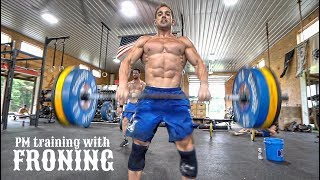 Rich Froning Full Day of Training - PART 2: PM Squat Clean/GHD Workout