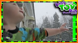 First Snow Storm of the Season and Jon Lost His Boots! 12.29.2015 | BinsToyBin Daily Vlogs