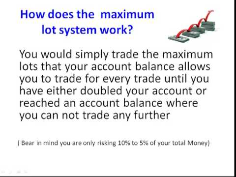 Find the maximum lots on forex